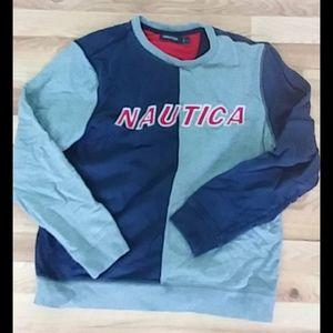 Nautica Men's Colorblocked Logo sweatshirt L